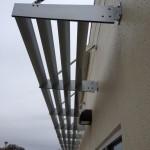 powder coated awning